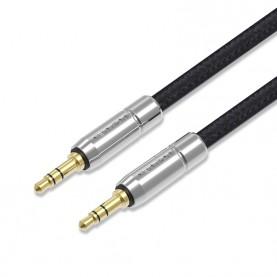 Кабель Vention аудио Jack 3,5 mm M/Jack 3,5 mm M тканевая оплетка