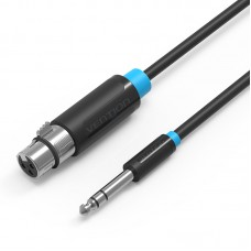 Кабель Vention аудио Jack 6.5 mm M/XLR F