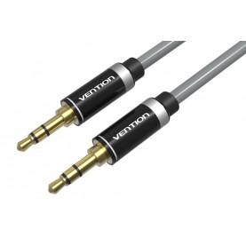 Кабель Vention аудио Jack 3,5 mm M/Jack 3,5 mm M, черный наконечник