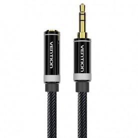 Кабель-удлинитель Vention аудио Jack 3,5 mm M/Jack 3,5 mm F, нейлоновый