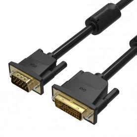 Кабель Vention DVI-I Dual link 24+5M/VGA 15M с 2 ферритовыми фильтрами