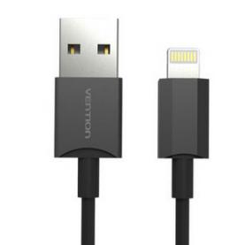 Кабель Vention USB 2.0 AM/Lightning 8M для iPad/iPhone Черный