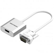 Мультимедиа конвертер Vention VGA + аудио > HDMI, гибкий