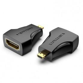 Адаптер-переходник Vention HDMI 19F/micro HDMI 19M