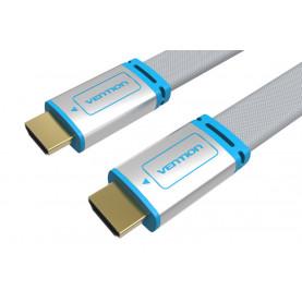 Кабель Vention HDMI High speed v2.0 with Ethernet 19M/19M, плоский, металлический