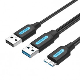 Кабель Vention USB 3.0 AM/micro B, USB 2.0 AM