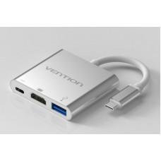 Мультимедиа конвертер Vention USB Type C M > USB 3.0 F / USB 3.1 F / HDMI F