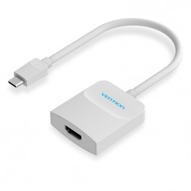 Мультимедиа конвертер Vention USB Type C M > HDMI F, белый