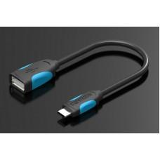 Адаптер-переходник Vention USB Type C M/OTG USB 2.0 AF, гибкий