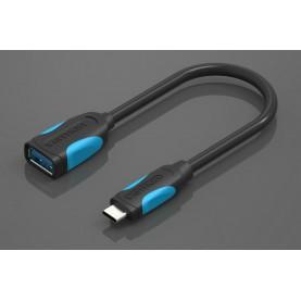 Адаптер-переходник Vention USB Type C M/OTG USB 3.0 AF, гибкий